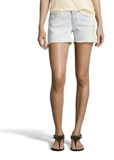 James Jeans bone distressed denim 'Shorty' slouchy boy shorts