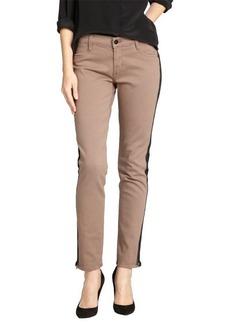 James Jeans cafe au lait side zip slim leg denim pants