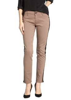 James Jeans cafe au lait side zip slim leg denim pants