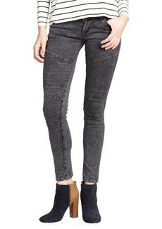James Jeans charcoal stretch 'Moto' skinny leg jeans