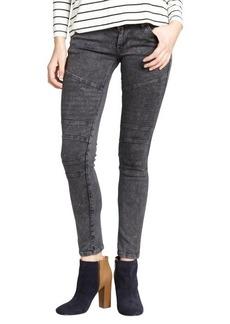 James Jeans charcoal stretch 'Moto' skinny leg jeans