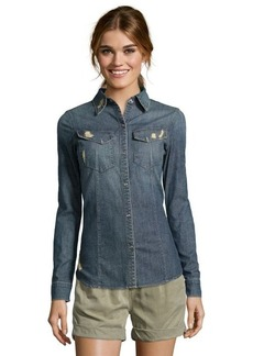 James Jeans charm cotton chambray 'Essential' shirt
