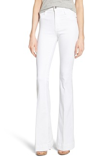 James Jeans Classic High Rise Flare Leg Jeans (White Clean)