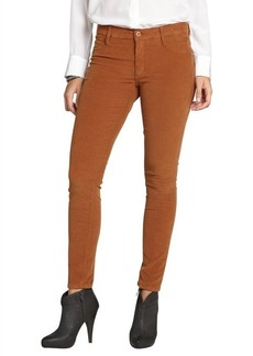James Jeans cognac cotton stretch corduroy 'Twiggy' skinny jeans
