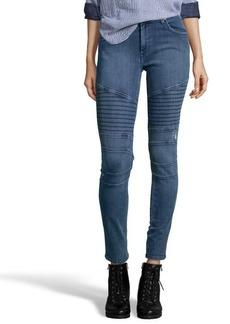 James Jeans crush blue stretch 'Moto' skinny jeans