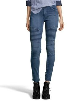 James Jeans crush blue stretch 'Moto' skinny jeans