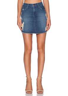 James Jeans Daisy Scalloped Hem Cut-Off Skirt