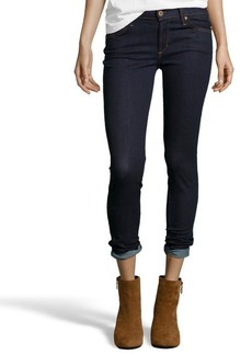 James Jeans dark blue stretch denim 'James Skinny' jeans