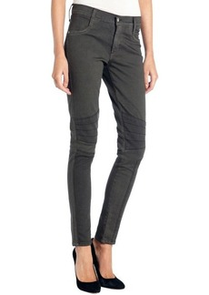 James Jeans dark grey stretch 'Emilia' moto skinny jeans