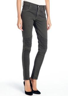 James Jeans dark grey stretch 'Emilia' moto skinny jeans