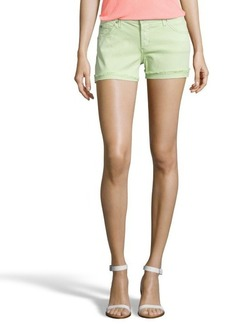 James Jeans french lime stretch denim 'Shorty' frayed shorts