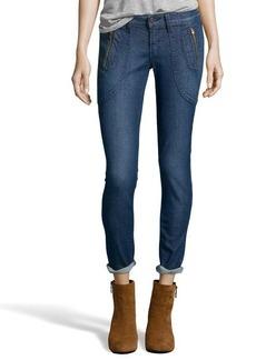 James Jeans havana blue 'Trixie' beaded detail skinny jeans