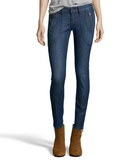 James Jeans havana blue 'Trixie' beaded detail skinny jeans