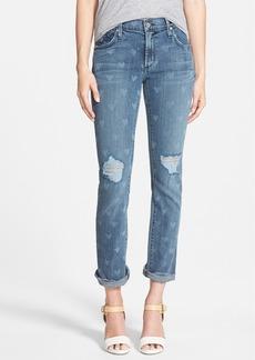 James Jeans Heart Print Slouchy Straight Leg Jeans (Vintage Love)