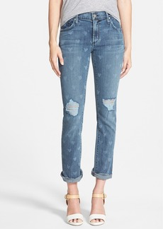 James Jeans Heart Print Slouchy Straight Leg Jeans (Vintage Love)