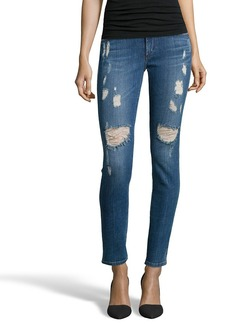 James Jeans indigo stretch denim 'James Twiggy' distressed skinny ...
