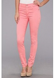 James Jeans James Twiggy Stripe Faux Front Pocket Legging in Flamingo Stripe