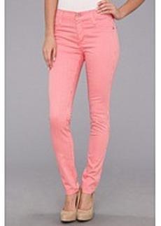 James Jeans James Twiggy Stripe Faux Front Pocket Legging in Flamingo Stripe
