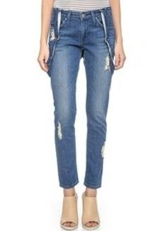 James Jeans Jojo Slouchy Suspender Boyfriend Jeans