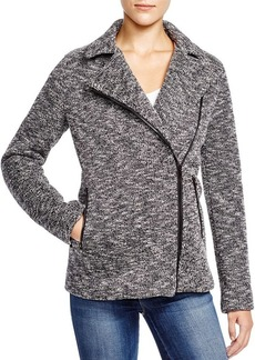 James Jeans Marled Boyfriend Moto Jacket