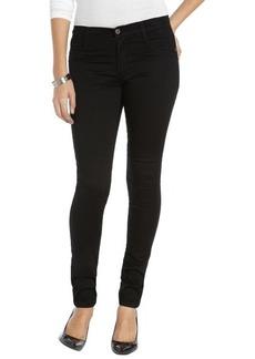James Jeans matte black stretch cotton coated 'James Twiggy' skinny jeans