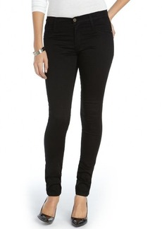 James Jeans matte black stretch cotton coated 'James Twiggy' skinny jeans