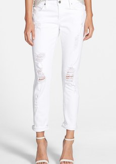 James Jeans 'Neo Beau' Stretch Boyfriend Jeans (Destroyed White)