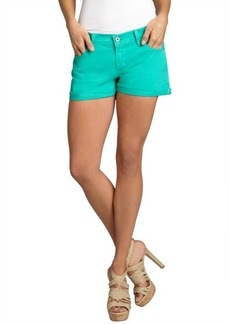 James Jeans peppermint stretch denim 'Shorty' frayed shorts