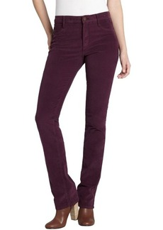 James Jeans plum cotton corduroy 'Hunter' straight leg jeans