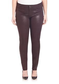 James Jeans, Plus Size Faux Front-Pocket Glossed Leggings