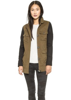 James Jeans Ponte Sleeve Utility Jacket