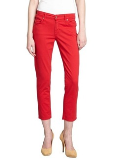 James Jeans poppy stretch denim 'Twiggy' cropped skinny jeans