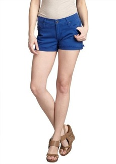 James Jeans royal blue stretch denim 'Shorty' frayed shorts