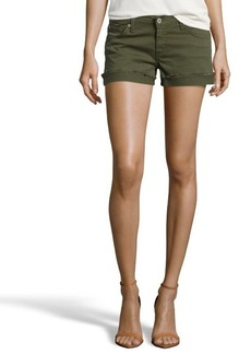 James Jeans safari green cotton 'Shorty' slouchy cuffed shorts