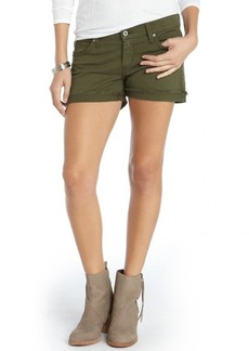 James Jeans safari green stretch cotton 'Slouchy Fit Boyfriend Shorts'
