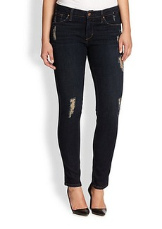 James Jeans, Sizes 14-24 Distressed Cigarette Jeans