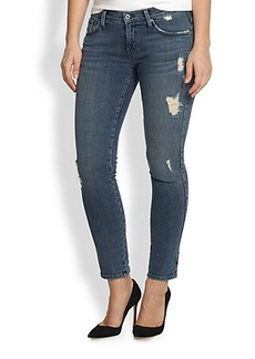 James Jeans, Sizes 14-24 Distressed Skinny Jeans