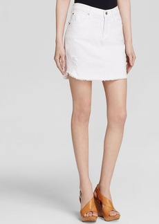 James Jeans Daisy Denim Skirt in White