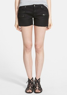 James Jeans Slouchy Zip Shorts (Black Jeather)