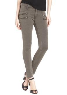 James Jeans toffee 'Crux Clean' zip fly skinny jeans