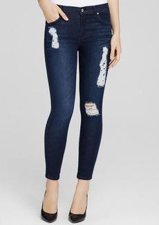 James Jeans Twiggy Ankle Skinny Jeans in Dark Piro