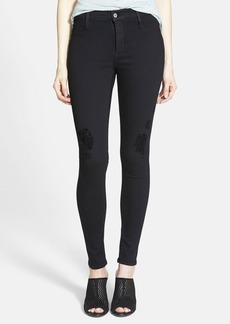 James Jeans 'Twiggy' Yoga Leggings (Black Flex Distressed)