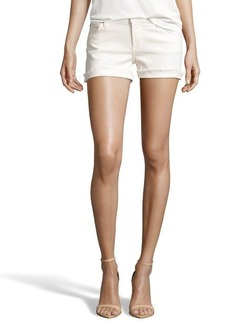 James Jeans vanilla cotton 'Shorty' slouchy cuffed shorts