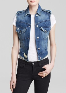 James Jeans Vest - Vega Low High Denim