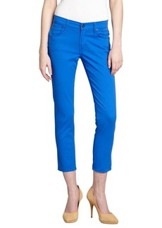James Jeans victorian blue stretch denim 'Twiggy' cropped skinny jeans
