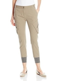 James Jeans Women's Boyfrend Slouch Fit Utility Cargo Pant In Desert Taupe