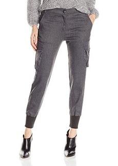 James Jeans Women's Boyfriend Cargo Charcoal Flannel, Charcoal Flannel, 30