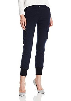 James Jeans Women's Boyfriend Slouchy Fit Utility Cargo Pant In Academy Navy