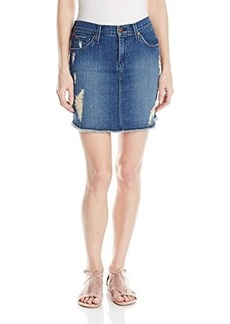 James Jeans Women's Cotton Daisy Scalloped Hem Cut-Off Skirt