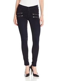 James Jeans Women's Crux Clean Double Front Zip Twiggy Jean in Olefina